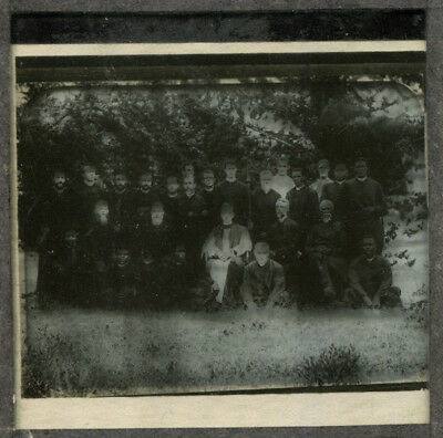 original 1920s Glass slide photograph Large Group of clergymen many ethnic
