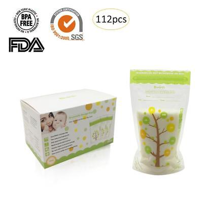 112 Pcs/Pack Breast Milk Storage Baby Food 235ml 8oz Freezer Container Bags