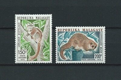 MADAGASCAR - 1973 YT 130 à 131 - POSTE AERIENNE - TIMBRES NEUFS** MNH LUXE