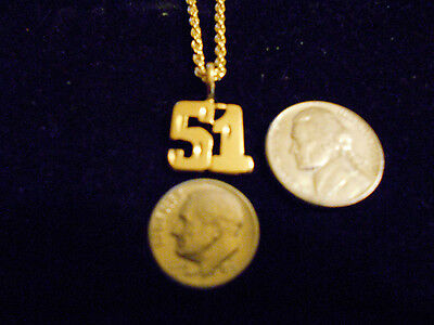 bling gold plated game fashion jewelry number 51 pendant charm hip hop necklace