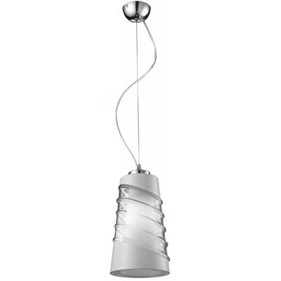 "Paris Prix - Lampe Suspension ""crister"" 18cm Blanc & Transparent"