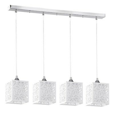 "Paris Prix - Lampe Suspension 4 Têtes Design ""anika"" 73cm Blanc"