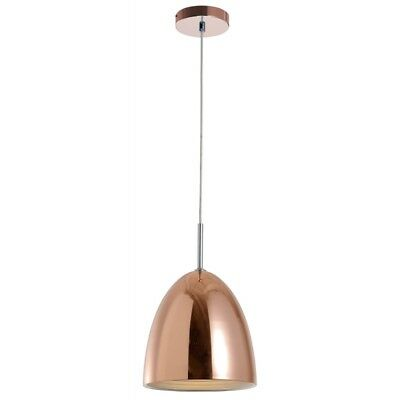 "Paris Prix - Lampe Suspension Design Cloche ""mads"" 25cm Cuivre"