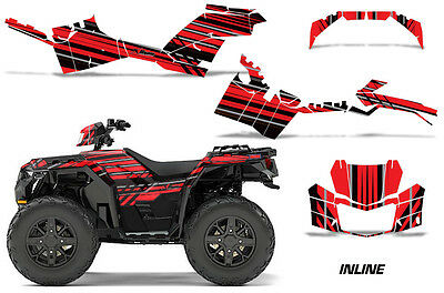 ATV Decal Graphics Kit Quad Wrap For Polaris Sportsman 850 2017-2018 INLINE RED