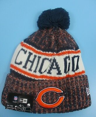cheap for discount b133c e40ee CHICAGO BEARS - New Era - Knit Winter Hat (Fold UP Style with Pom Pom