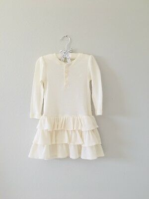 Ralph Lauren Baby Girls Beige Dress Sz 24 M