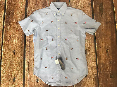 Polo Ralph Lauren Ss Country Western Usa Embroidered Shirt Mens Xs New