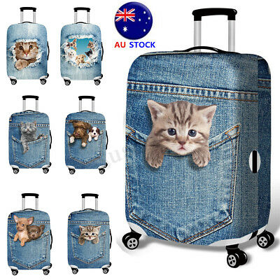 18-32'' 3D Cat Dog Elastic Luggage Cover Trolley Case Durable Suitcase Protector