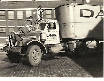 1940s STERLING HC Diesel & Trailer, DAKOTA TRANSFER, Minneapolis 8x10 B&W Photo