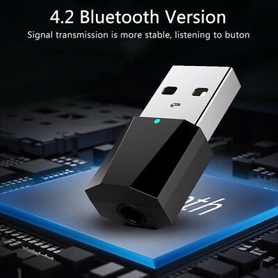 DC 5V USB Bluetooth 4.2 Wireless Audio Music Stereo Adapter Dongle Receiver