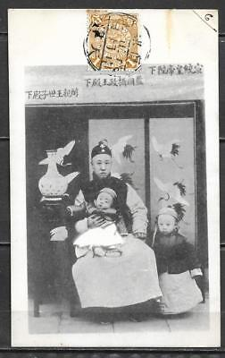 CHINA OLD PC- the EMPEROR OF CHINA ON THE KNEELS OF THE REGENT -TIENTSIN CTO