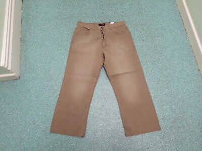 "Next Relaxed Fit Cord Jeans Waist 34"" Leg 27"" Faded Brown Mens Cord Jeans"