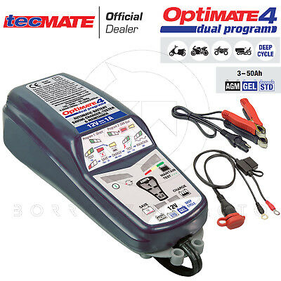 Tecmate Optimate 4 Dual Programme  Can-Bus Chargeur De Batterie Moto Bmw 1A