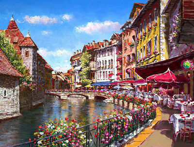 Art Giclee Beautiful Sunny City Scenery Oil painting HD Printed on Canvas P1165
