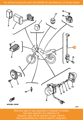 YAMAHA Switch, Side Stand, 3LD-82566-40 Fowlers Parts OEM