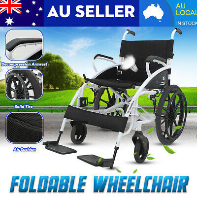 Aluminum Alloy Sports Athletic Wheelchair Foldable Lightweight Trolley Red