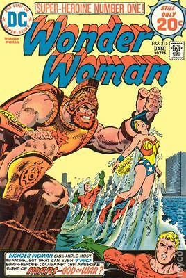 Wonder Woman (1st Series DC) #215 1975 VG Stock Image Low Grade