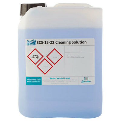Warton SCS-15-22 10L Surf Clean SCS-15-22 Saponification Cleaning Solution 10L