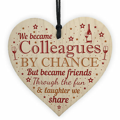 Handmade Wooden Heart Gift For Work Colleague Friend Leaving Job Gift Keepsake