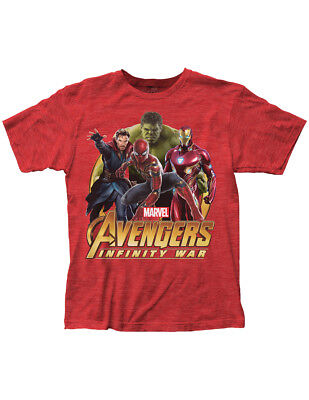 NEW NWT Marvel Avengers Infinity War Red T-Shirt, Officially Licensed