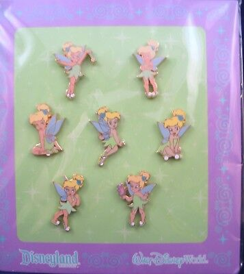 Disney Trading Pins  ** Peter Pan's TINKER BELL **  Sealed Booster Set of 7