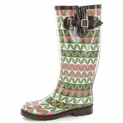 Xr1182 Lilac Multi Synthetic Ladies Spot On Floral Patterned Wellington Boots