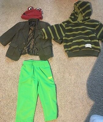 A Bundle Of 4 Items 18-24 Months Hat 2 Jackets And Pants Baby Boys