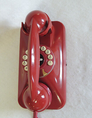 GRAND WALL TELEPHONE Red Pottery Barn Push Button retro