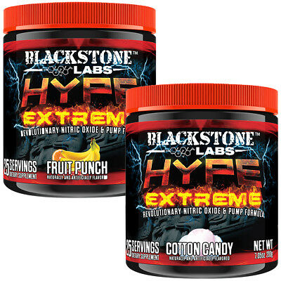 Blackstone Labs Hype Extreme Stimulant-Free Pre-Workout Supplement - 25 Servings
