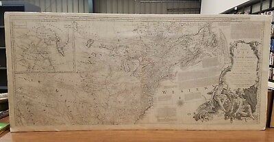 An Accurate Map of North America Northern Section Thomas Jefferys 1776 Original