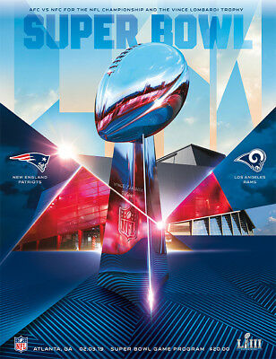 Super Bowl LIII 53 NFL Official Holographic Stadium Program Patriots Rams Atl GA