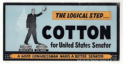 NORRIS COTTON New Hampshire US SENATE Political BLOTTER NH Congress CONCORD
