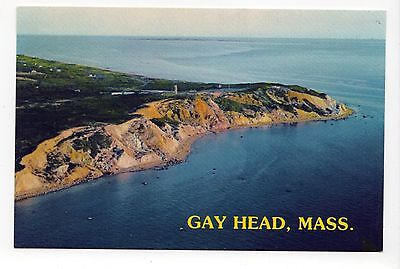 GAY HEAD Aquinnah MARTHA'S VINEYARD PC Postcard MASSACHUSETTS Lighthouse LIGHT