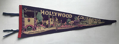 EARLY HOLLYWOOD PENNANT California LOS ANGELES Grauman's Chinese Theatre NBC CA