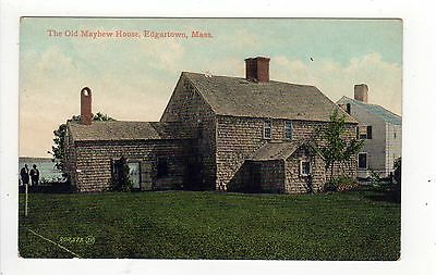 MARTHA'S VINEYARD Massachusetts PC Postcard MARTHAS Old Mayhew House EDGARTOWN