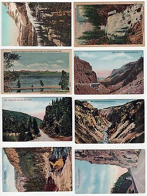 YELLOWSTONE NATIONAL PARK PC Postcard WYOMING NPS Glacier CANYON Mountains