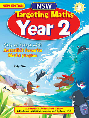 NEW NSW Targeting Maths Student Book : Year 2 By Katy Pike Paperback