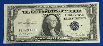 1935E $1 Blue Choice Crisp Uncirculated SILVER Certificate Old US Currency