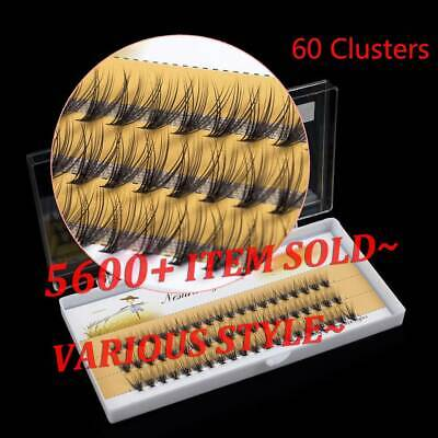 SKONHED 60 Clusters C/D Curl False Eyelashes Flare Individual Lashes Extension