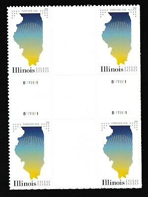 US 5274 Statehood Illinois forever cross gutter block MNH 2018