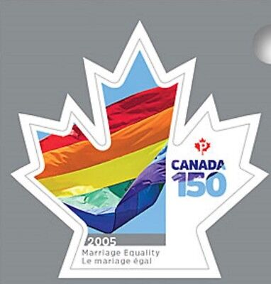 Canada 3007 150 2005 Marriage Equality 'P' single (from booklet of 8) MNH 2017