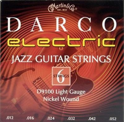 Electric Guitar Strings Darco D9100 Nickel Wound Strings, Jazz Light  -SHIPS FRE