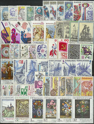 Czechoslovakia - 1976 Complete Year Set Stamps- Jahrgang - **mnh** - Cheap !!
