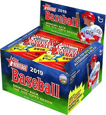 2019 Topps Heritage Baseball Factory Sealed 24 Pack Retail Box