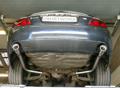"Jaguar S Type 4.0 V8 Rear silencer delete pipes - 3.5"" tail pipe"