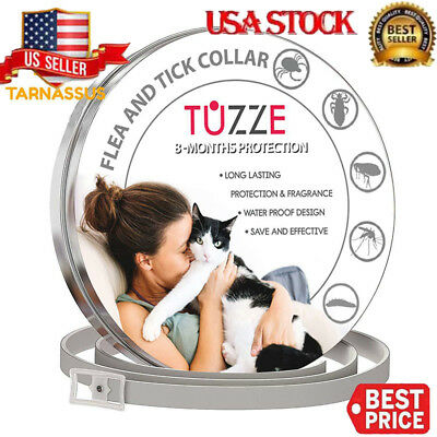 Dewel Tuzze Flea And Tick Collar Adjustable for Small Cats and Dogs - 8 Month