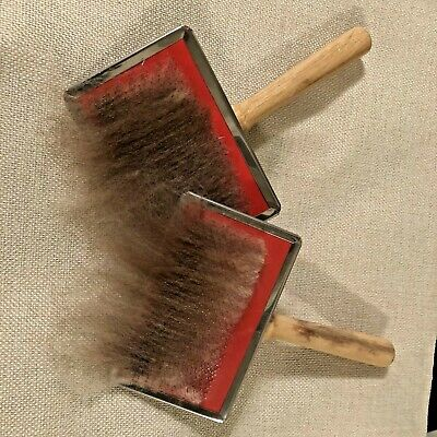 Hand Carders Wool Blending Carding Combs Fleece Felting Preparation One Pair
