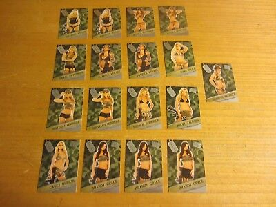 Mary Riley +16 Lot of 17 2013 Bench Warmer Bubble Gum Boot Camp Insert Cards