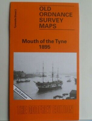 OLD Ordnance Survey Detailed Maps Mouth of Tyne Tyneside 1895 Godfrey Edition