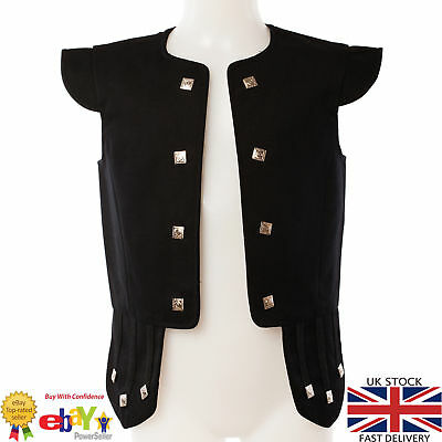 100% Wool Chieftain Waistcoat Scottish Traditional Jacobite Kilts &Weddings Vest